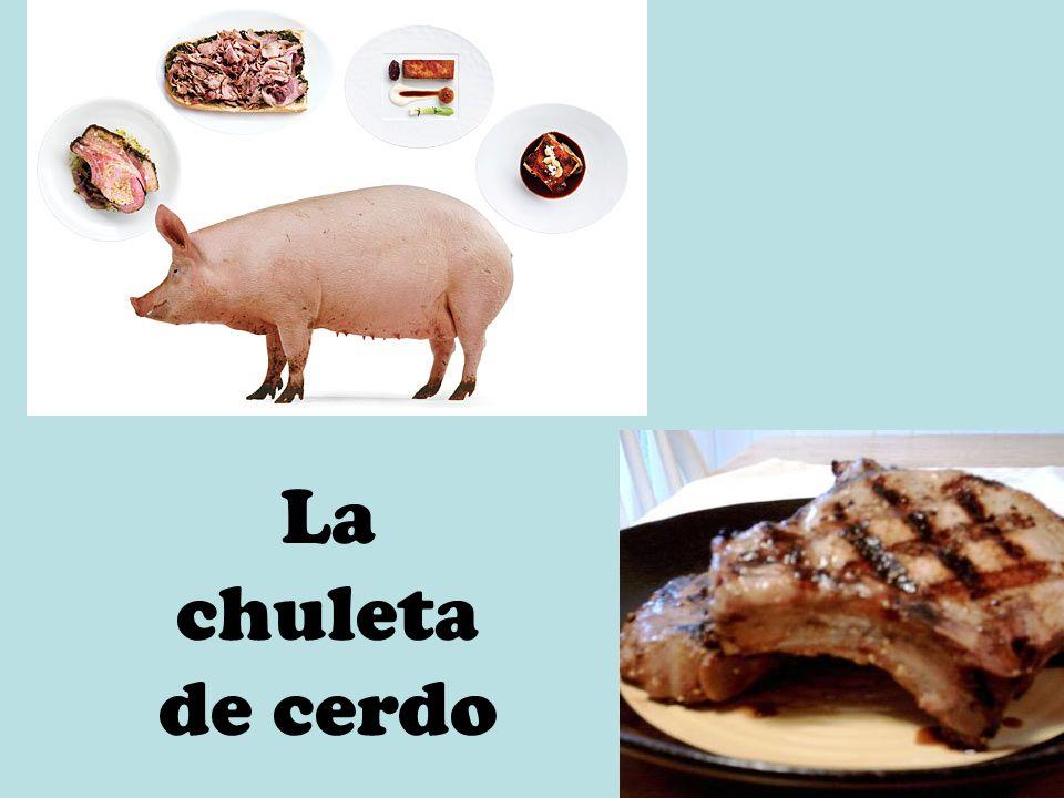 La chuleta de cerdo