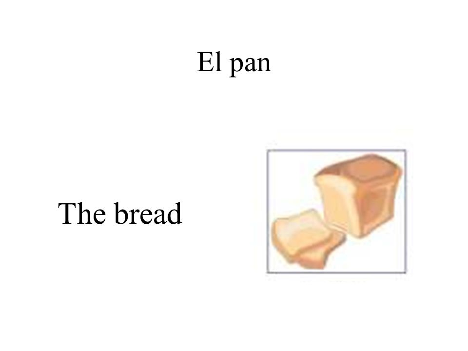 El pan The bread