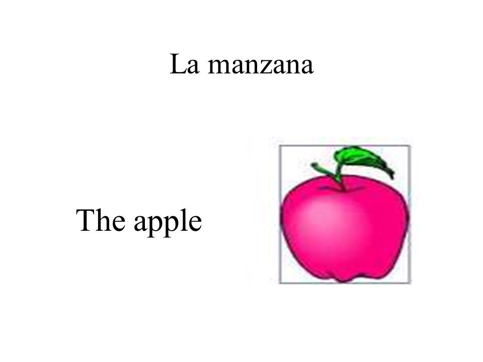 La manzana The apple