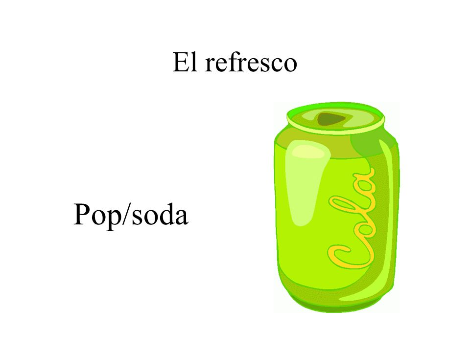El refresco Pop/soda