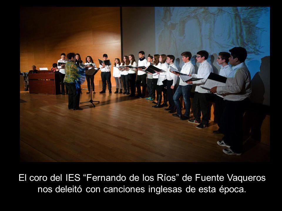 El coro del IES Fernando de los Ríos de Fuente Vaqueros nos deleitó con canciones inglesas de esta época.