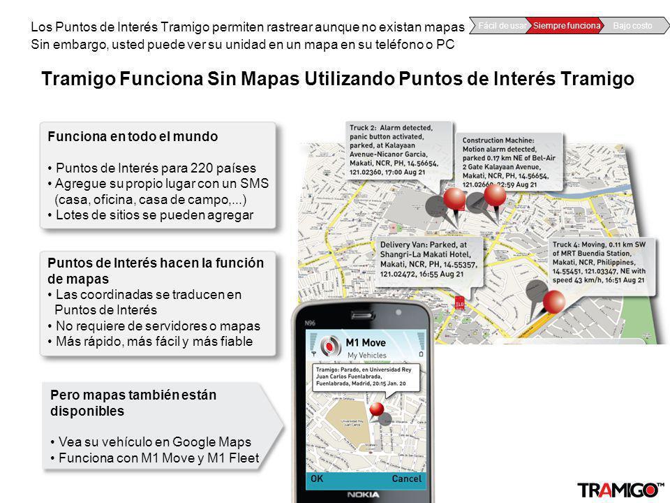 v 1.0 / 4 Sept 2009Tramigo for mobile operators – confidential Tramigo Funciona Sin Mapas Utilizando Puntos de Interés Tramigo Los Puntos de Interés T