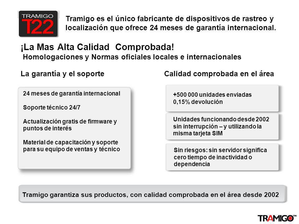 v 1.0 / 4 Sept 2009 ¡La Mas Alta Calidad Comprobada! Homologaciones y Normas oficiales locales e internacionales La garantía y el soporteCalidad compr