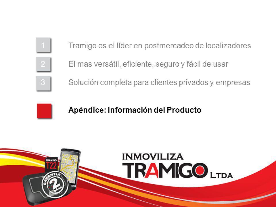 v 1.0 / 4 Sept 2009 1Tramigo es el líder en postmercadeo de localizadores 2El mas versátil, eficiente, seguro y fácil de usar 3Solución completa para