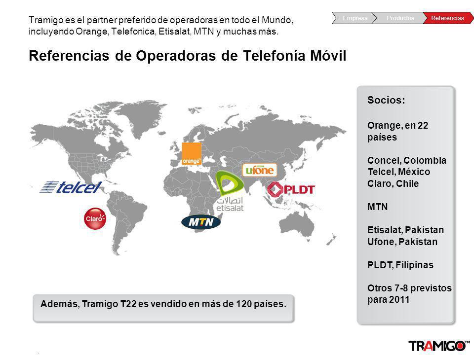 v 1.0 / 4 Sept 2009 Referencias de Operadoras de Telefonía Móvil Tramigo es el partner preferido de operadoras en todo el Mundo, incluyendo Orange, Te