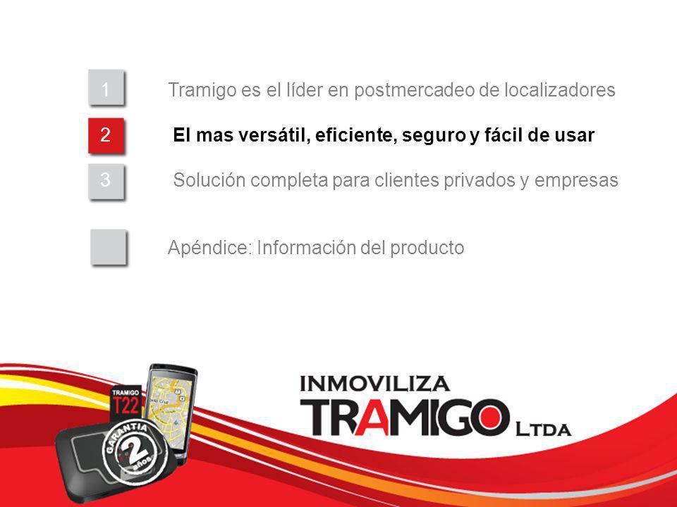 v 1.0 / 4 Sept 2009 1Tramigo es el líder en postmercadeo de localizadores 2 El mas versátil, eficiente, seguro y fácil de usar 3 Solución completa par