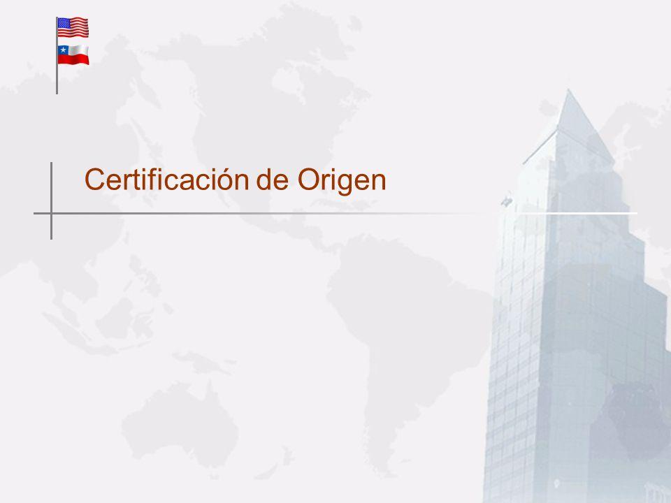 Certificación de Origen