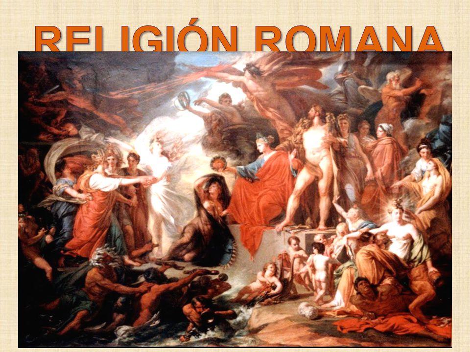 religión romana, imprecisa, favorecía la asimilación de dioses extranjeros. Se da pues un sincretismo que adopta por igual a dioses griegos y cultos o