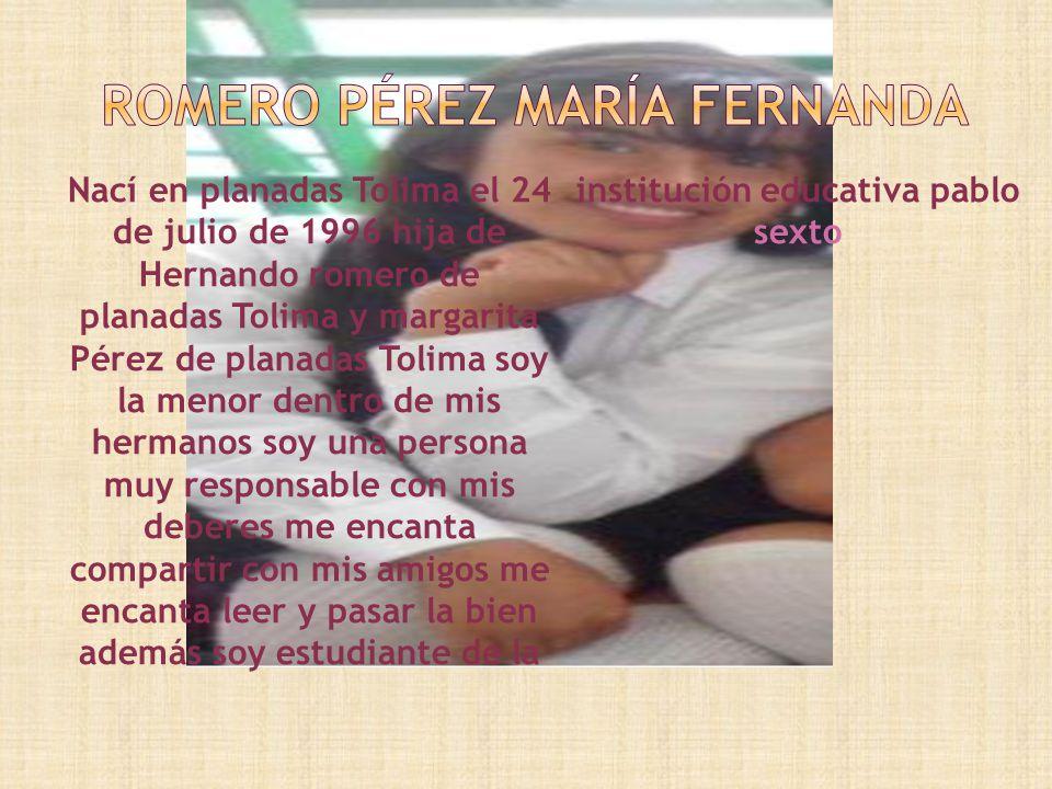 Nací en el municipio de planadas Tolima el 7 de octubre de 1996 Mis padres Copérnico barrera(de planadas Tolima) y Judith malagon (de planadas Tolima)