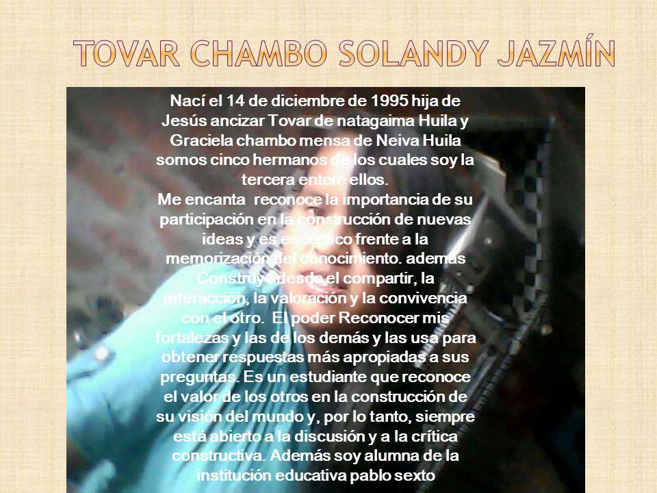 Nací en planadas Tolima el 24 de julio de 1996 hija de Hernando romero de planadas Tolima y margarita Pérez de planadas Tolima soy la menor dentro de