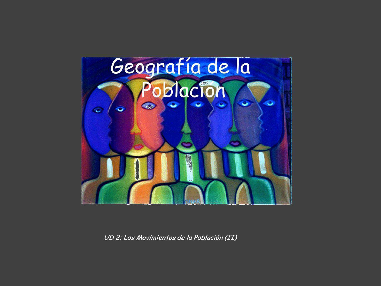 Geografía de la Población UD 2: Los Movimientos de la Población (II)
