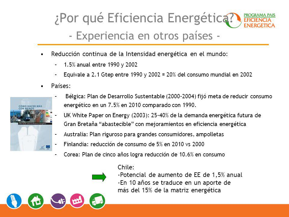 Las cifras: Consumo, Potencial, y Presupuesto Consumo de electricidad por sectores Fuente: Balances Nacionales de Energía 1991-2006, CNE.