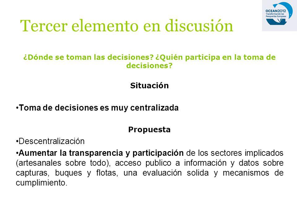 ¿Dónde se toman las decisiones. ¿Quién participa en la toma de decisiones.