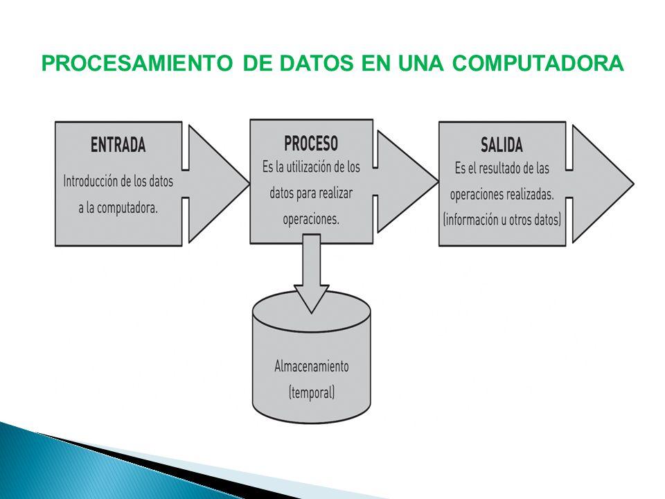 PROCESAMIENTO DE DATOS EN UNA COMPUTADORA