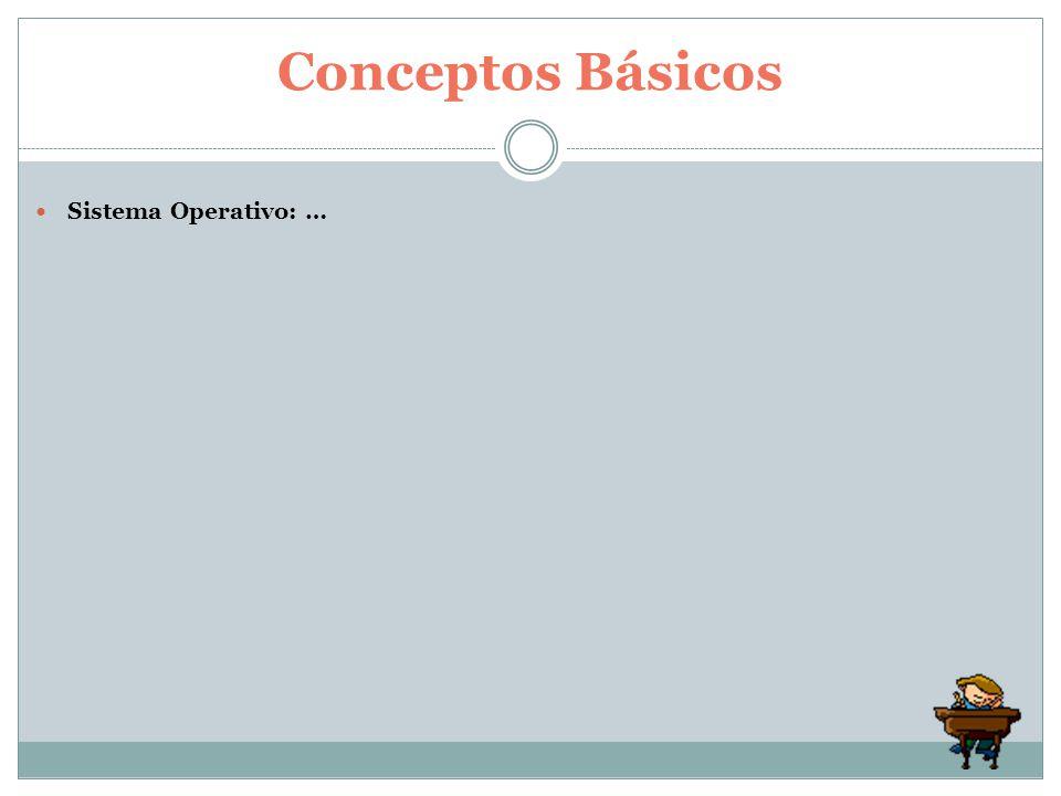 Sistema Operativo: … Conceptos Básicos