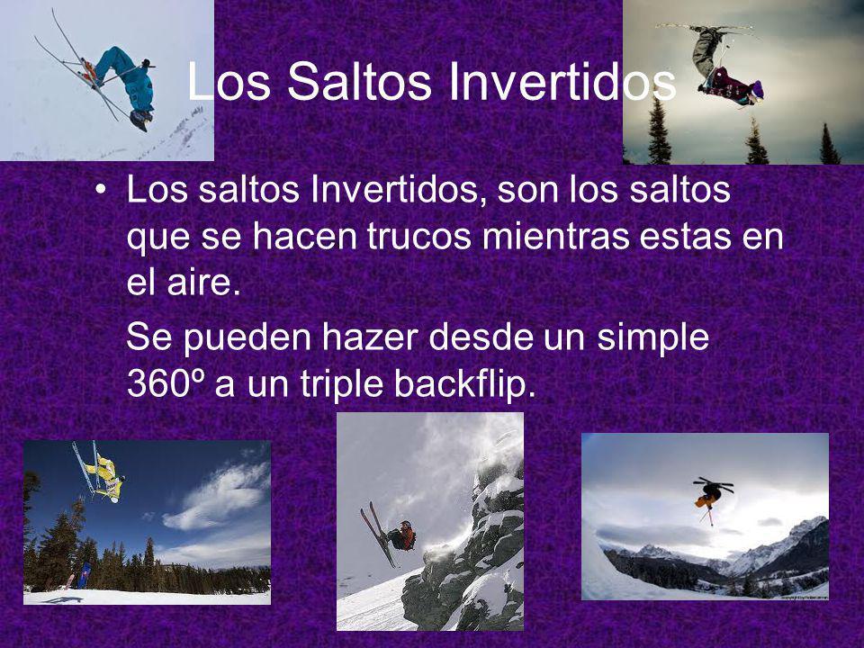 Los Saltos de Frente Es una prueba que tiene una gran dificultad técnica y por ello requiere mucha preparación, pues el esquiador no solo tiene que sa