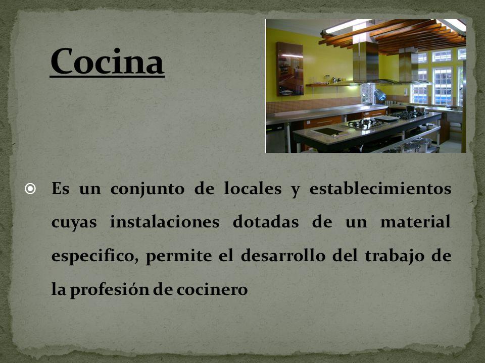 Es un conjunto de locales y establecimientos cuyas instalaciones dotadas de un material especifico, permite el desarrollo del trabajo de la profesión