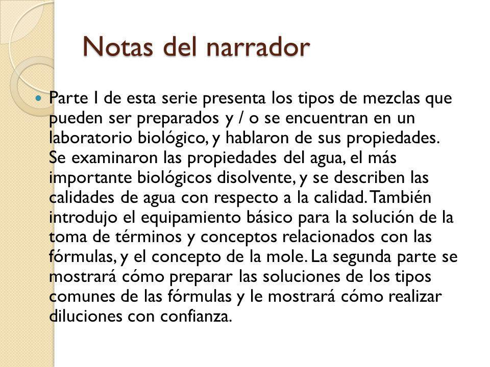 Referencias Farone, M.B. & Farone, A. L. (1999). Dilution Solutions.