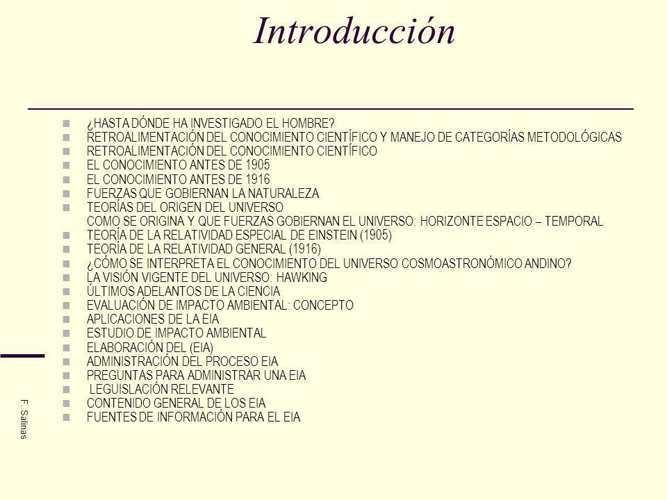Introducción ¿HASTA DÓNDE HA INVESTIGADO EL HOMBRE? RETROALIMENTACIÓN DEL CONOCIMIENTO CIENTÍFICO Y MANEJO DE CATEGORÍAS METODOLÓGICAS RETROALIMENTACI
