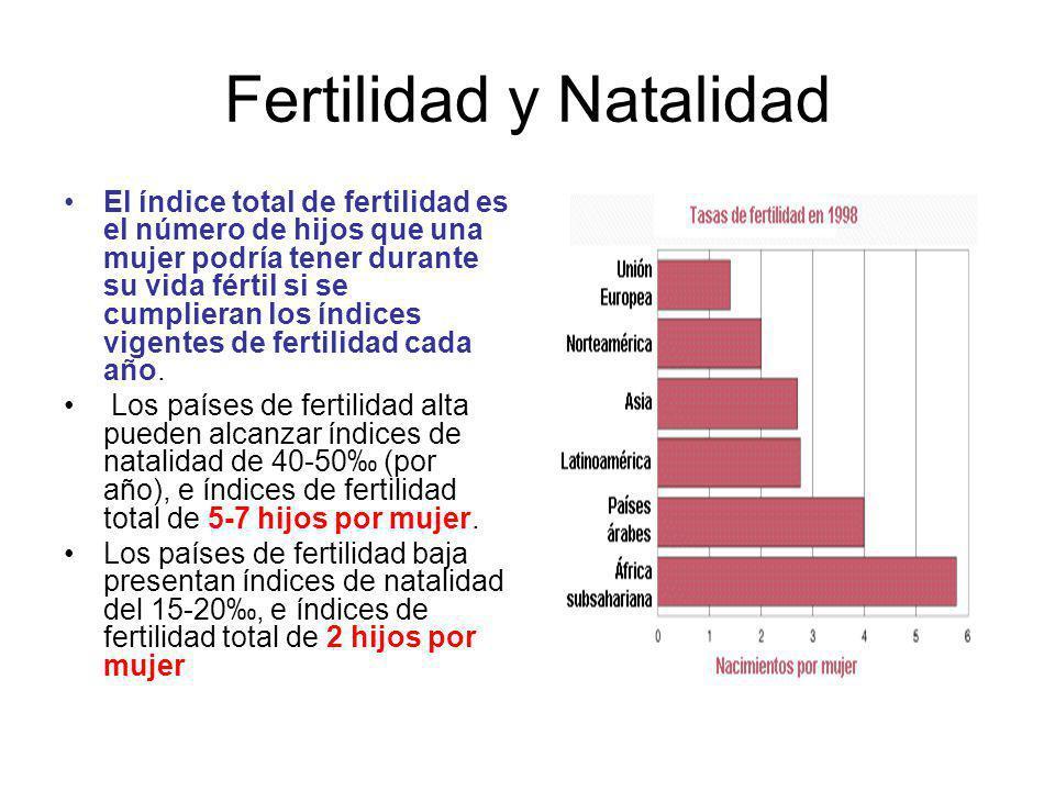 Fertilidad y Natalidad El índice total de fertilidad es el número de hijos que una mujer podría tener durante su vida fértil si se cumplieran los índices vigentes de fertilidad cada año.