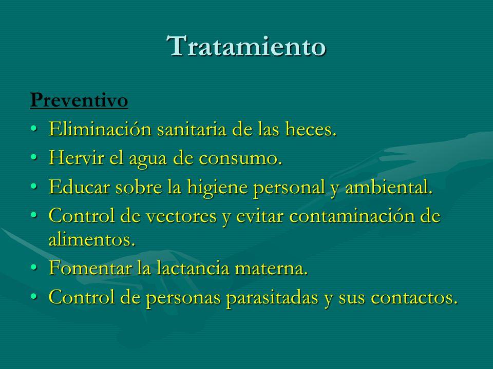 Tratamiento Preventivo Eliminación sanitaria de las heces.Eliminación sanitaria de las heces.