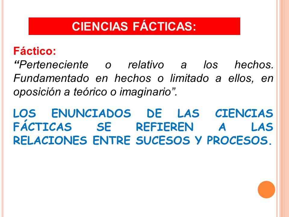 Fáctico: Perteneciente o relativo a los hechos.
