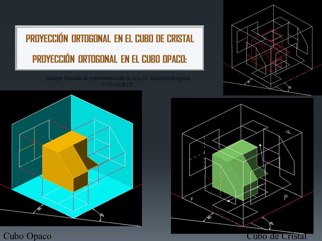 Proyección Ortogonal: método para representar objetos tridimensionales por medio del uso de vistas proyectadas sobre planos de proyección con líneas de proyección paralelas entre sí y perpendiculares a los planos.