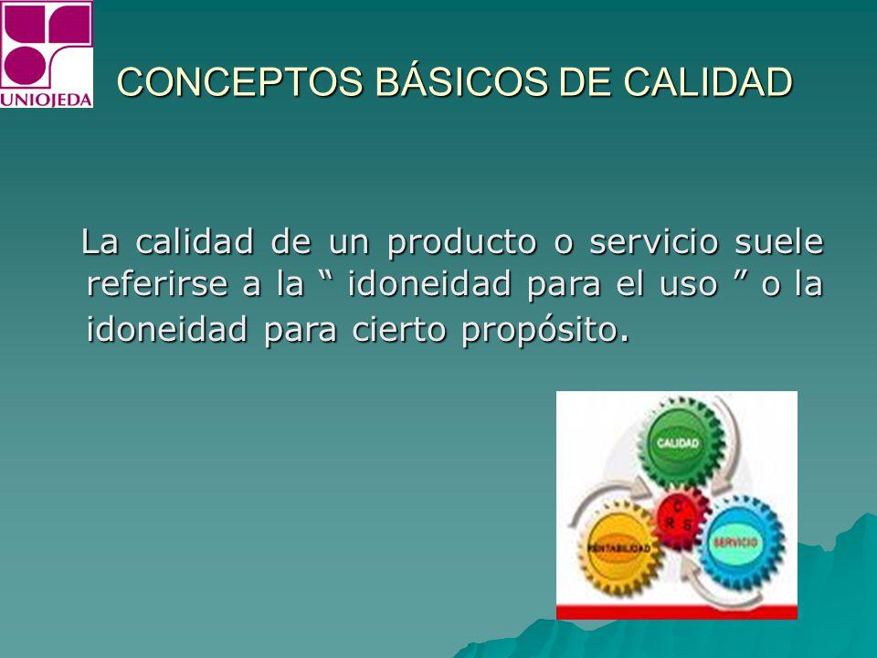 CONCEPTOS BÁSICOS DE CALIDAD ¿ Que es un sistema de calidad .