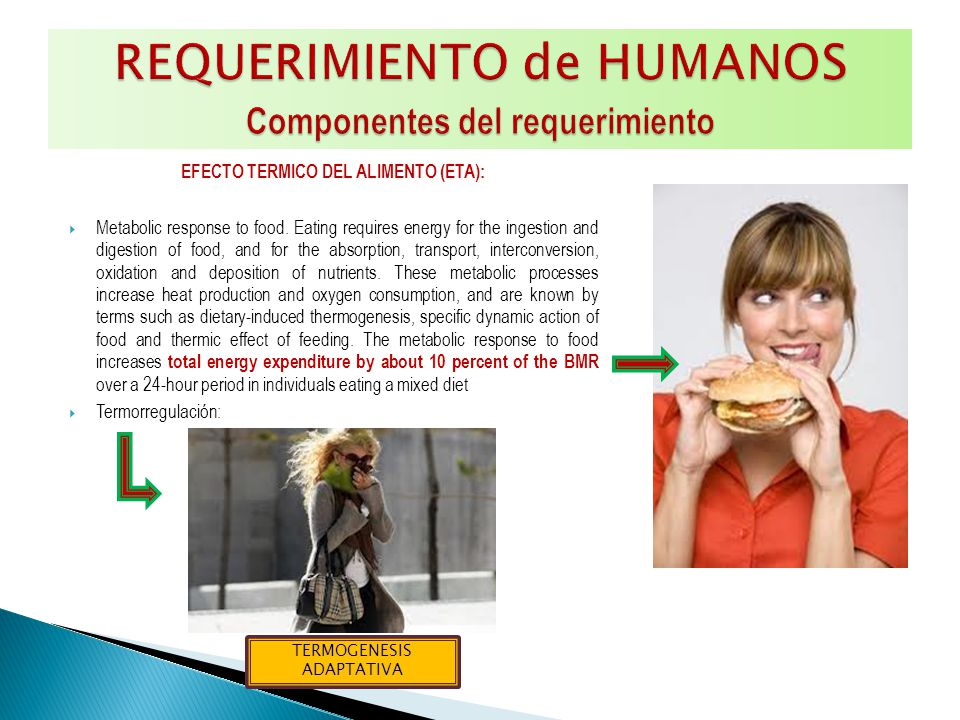 -Grasa total 15 – 30 % (% del total de energía) Ácidos grasos saturados < 10 % Ácidos grasos insaturados (PUFAS) 6 – 10 % PUFAS W-6 5 – 8 % PUFAS W-3 1- 2 % Ácidos grasos trans < 1 % Ácidos grasos mono insaturados (MUFAS) por diferencia -Carbohidratos totales 55 – 75 % (% del total de energía) Azucares libres < 10 % -Proteína total 10 – 15 % (% del total de energía) Colesterol < 300 mg/día Cloruro de sodio 5 g /día (< 2 g/día) Frutas y vegetales > 400 g / día Fibra dietaría total.