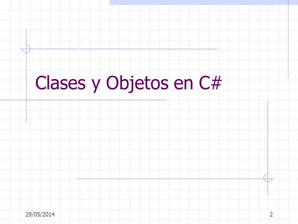 29/05/20142 Clases y Objetos en C#