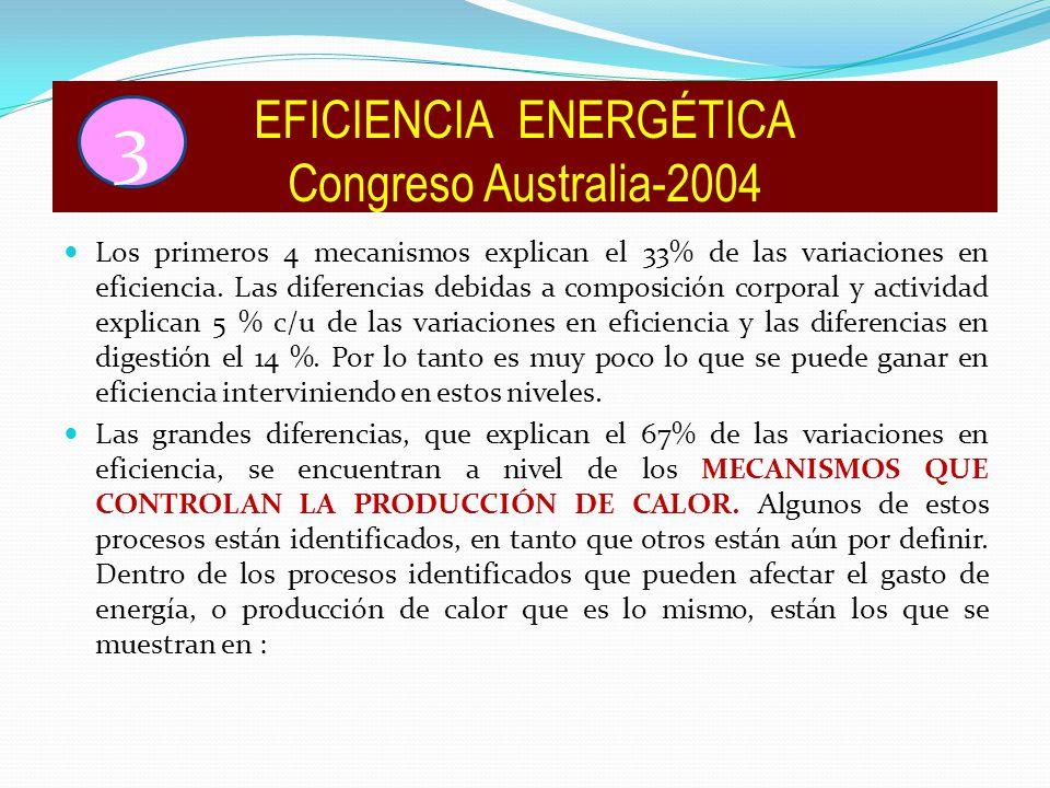 Los primeros 4 mecanismos explican el 33% de las variaciones en eficiencia.
