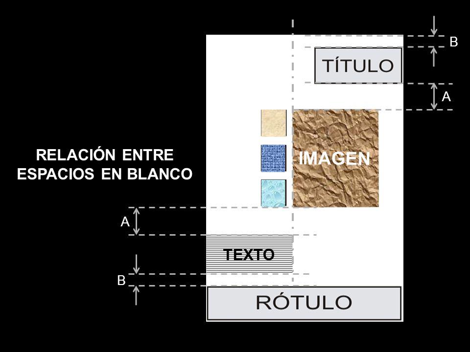 IMAGEN TEXTO A A B B RELACIÓN ENTRE ESPACIOS EN BLANCO
