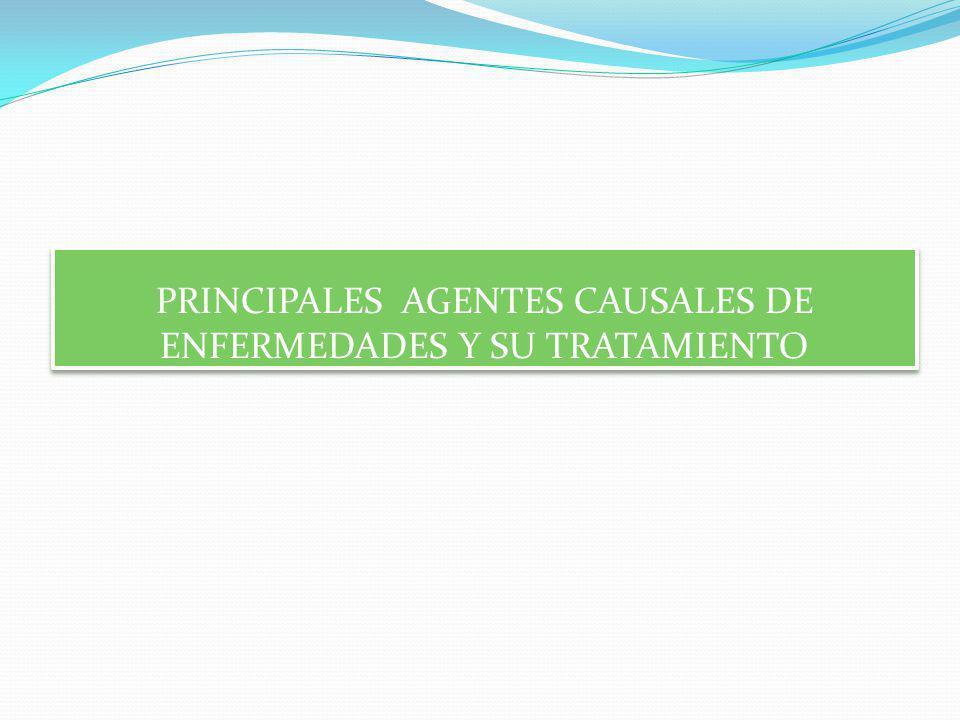 PRINCIPALES AGENTES CAUSALES DE ENFERMEDADES Y SU TRATAMIENTO