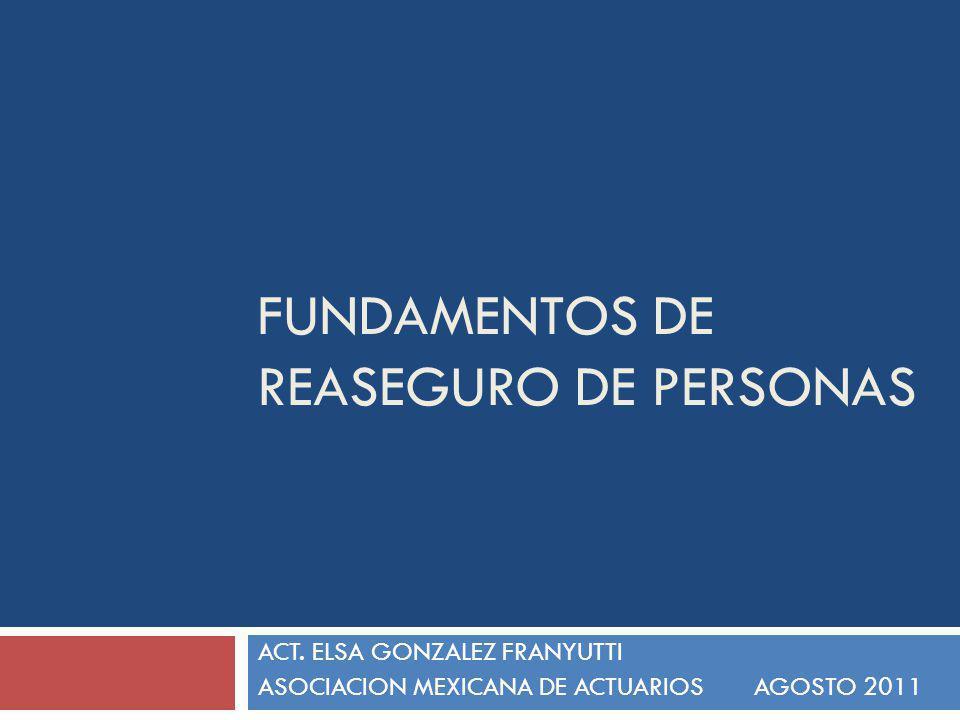 FUNDAMENTOS DE REASEGURO DE PERSONAS ÍNDICE El riesgo Reaseguro, Retención y Cesión Participantes Tipos de reaseguro Automático Facultativo Proporcional No proporcional