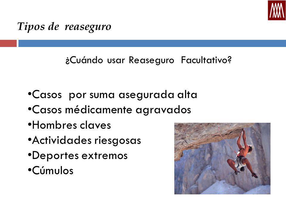 Tipos de reaseguro ¿Cuándo usar Reaseguro Facultativo.