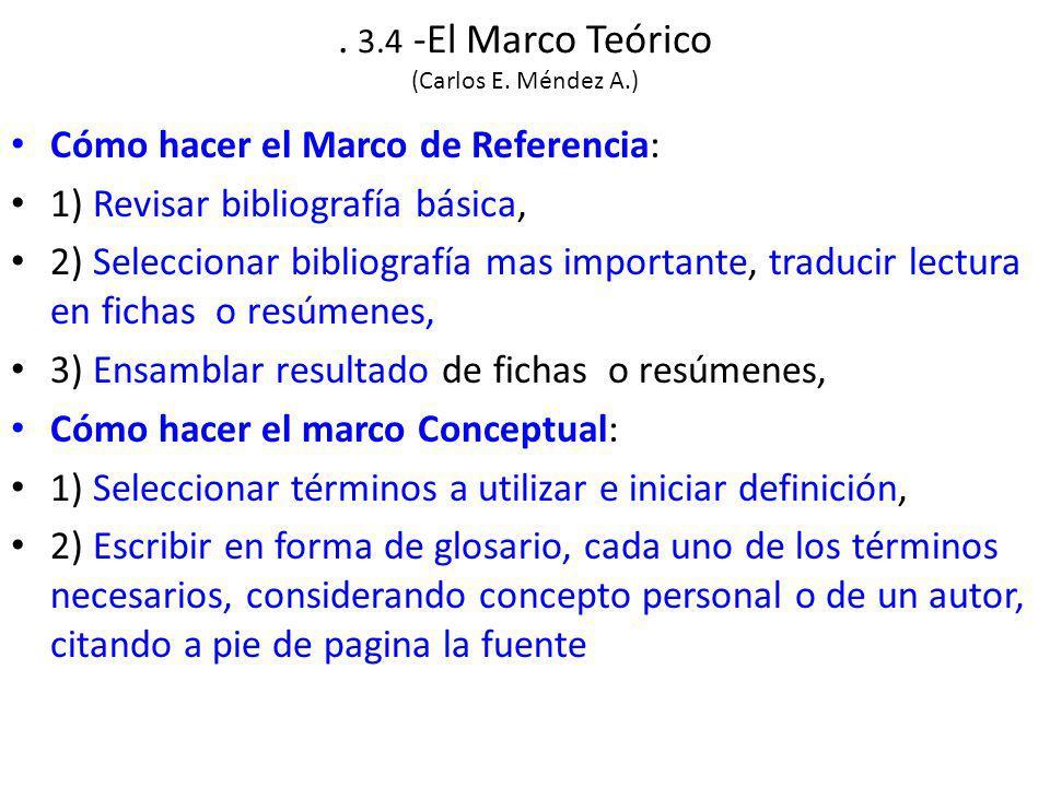 3.4 -El Marco Teórico (Carlos E.