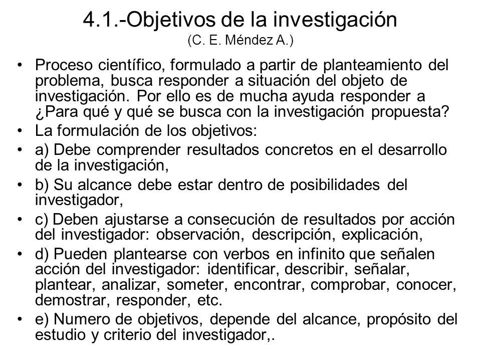 Proceso científico, formulado a partir de planteamiento del problema, busca responder a situación del objeto de investigación.