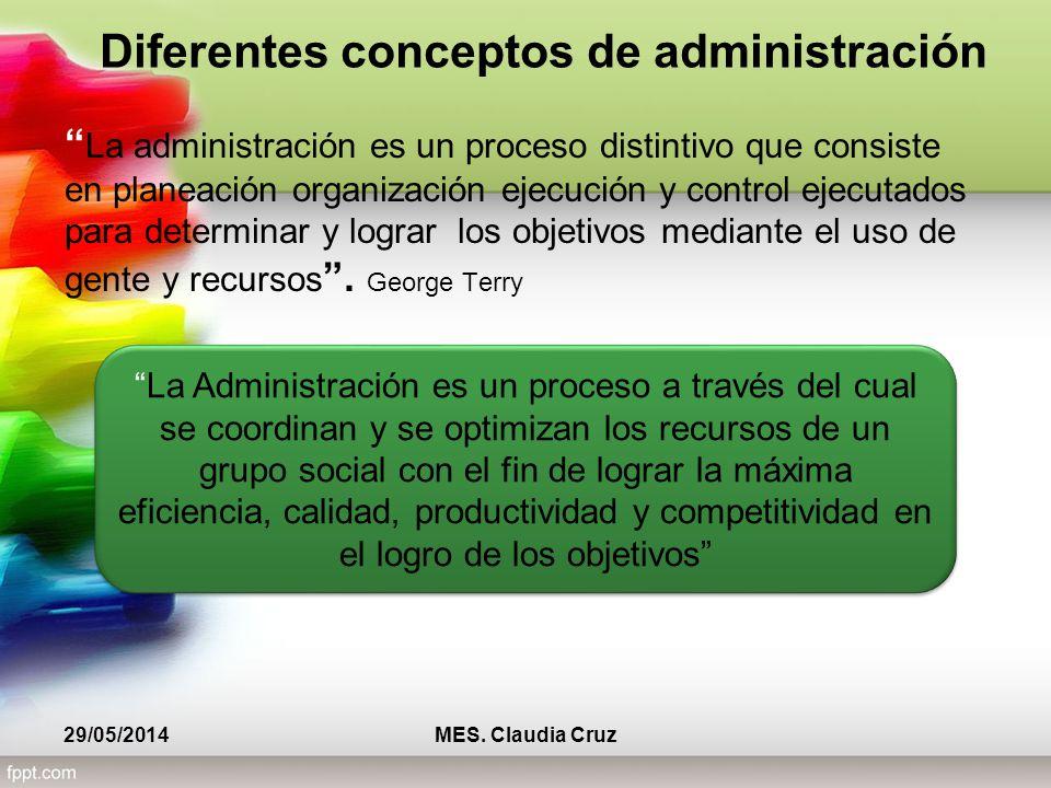 La administración es un proceso distintivo que consiste en planeación organización ejecución y control ejecutados para determinar y lograr los objetivos mediante el uso de gente y recursos.