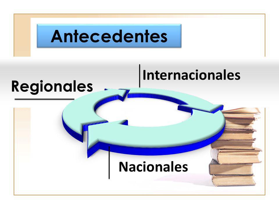 Antecedentes Internacionales Nacionales Regionales