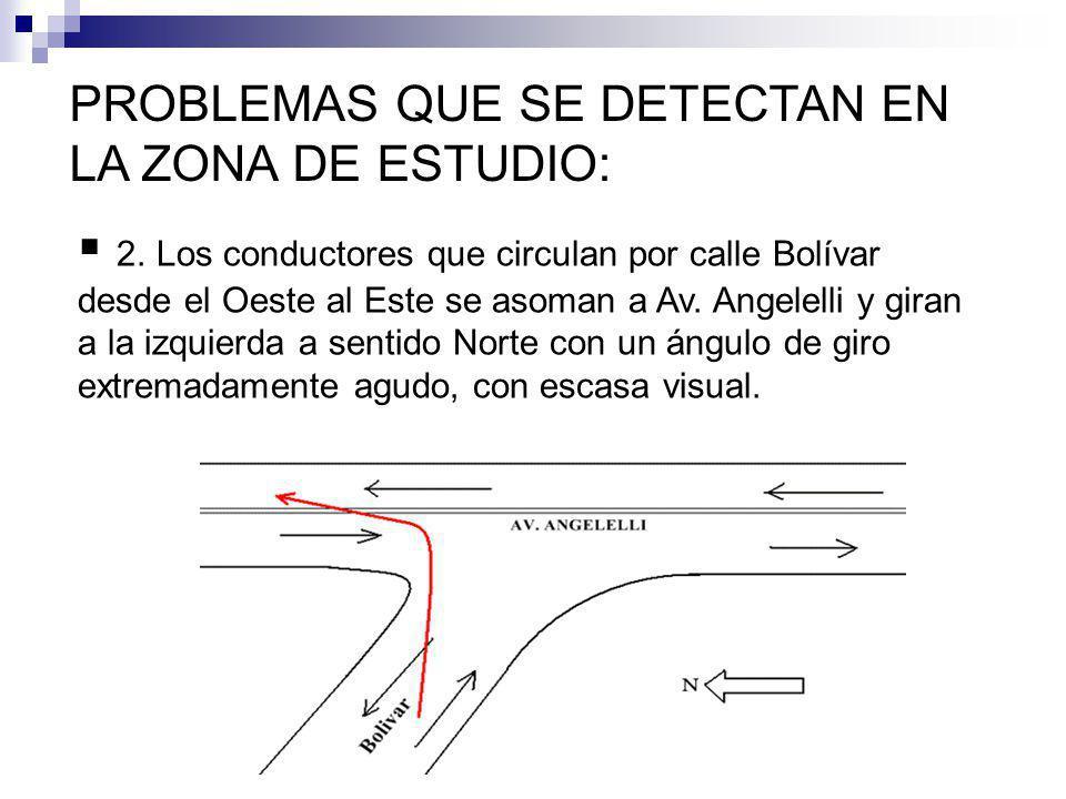 PROBLEMAS QUE SE DETECTAN EN LA ZONA DE ESTUDIO: 2.