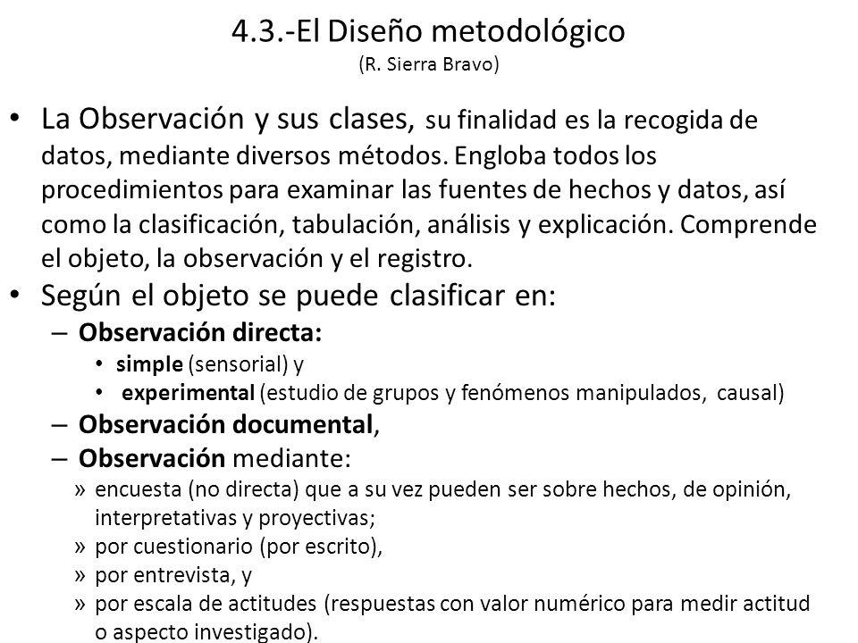 La Observación y sus clases, su finalidad es la recogida de datos, mediante diversos métodos.