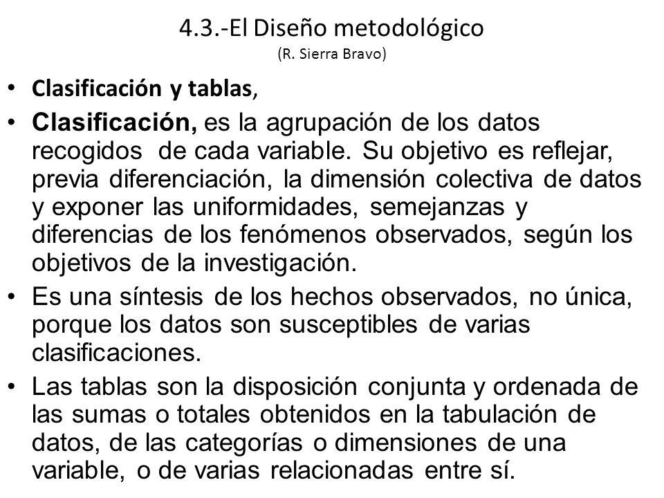 Clasificación y tablas, Clasificación, es la agrupación de los datos recogidos de cada variable.