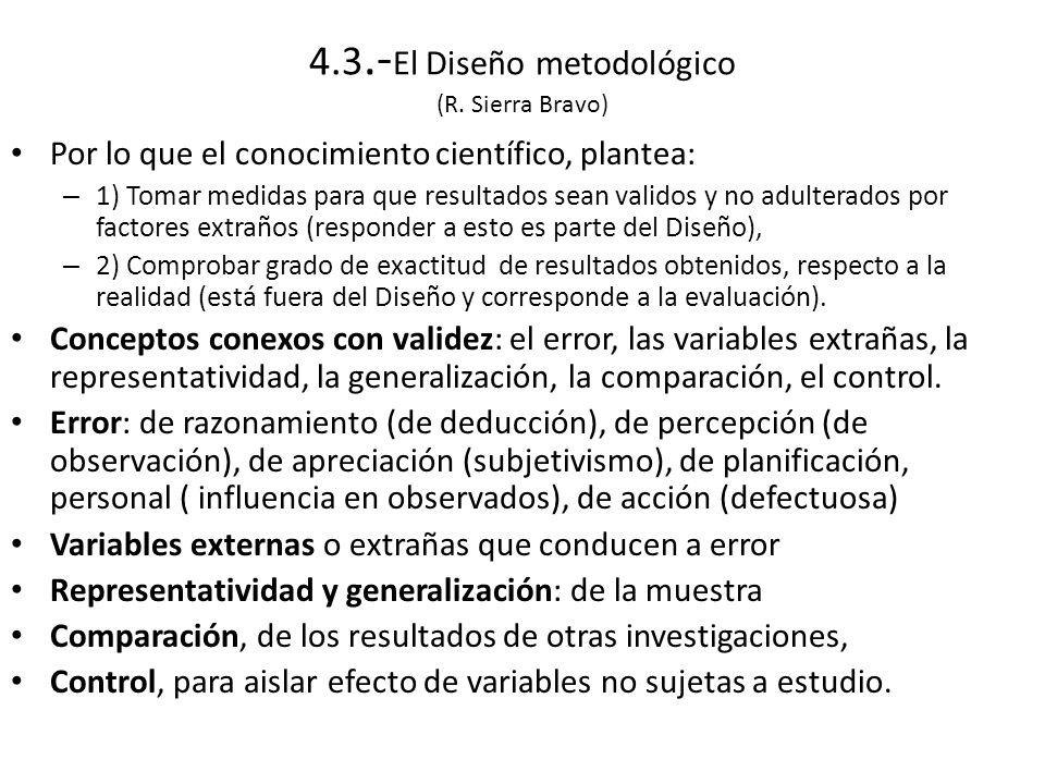 4.3.- El Diseño metodológico (R.