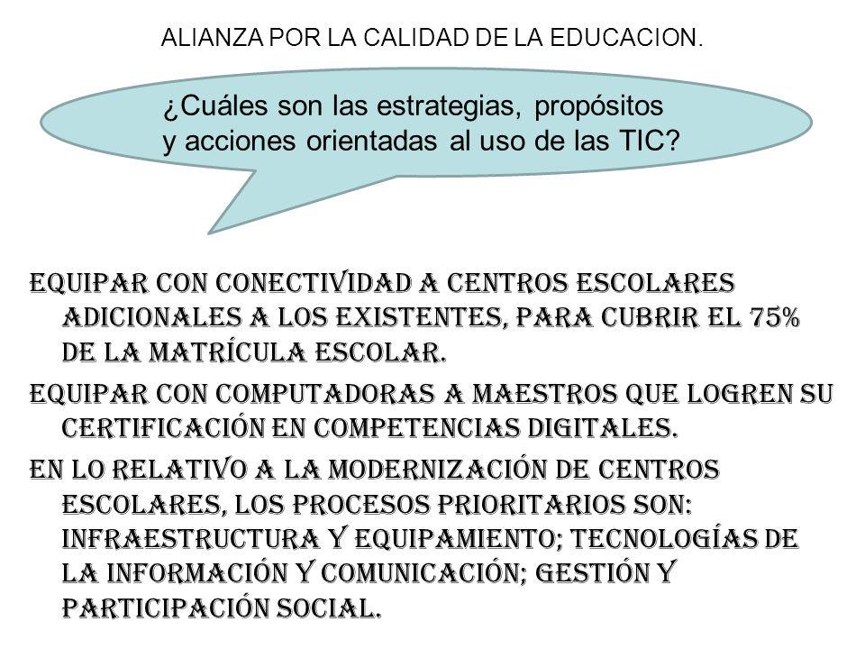 ALIANZA POR LA CALIDAD DE LA EDUCACION.