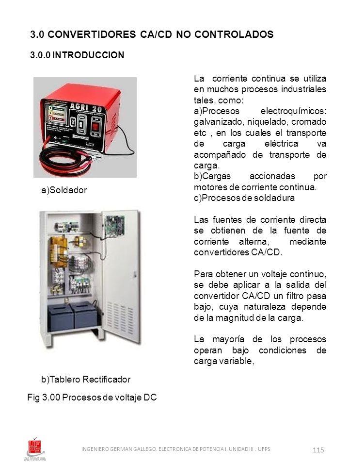 La corriente continua se utiliza en muchos procesos industriales tales, como: a)Procesos electroquímicos: galvanizado, niquelado, cromado etc, en los