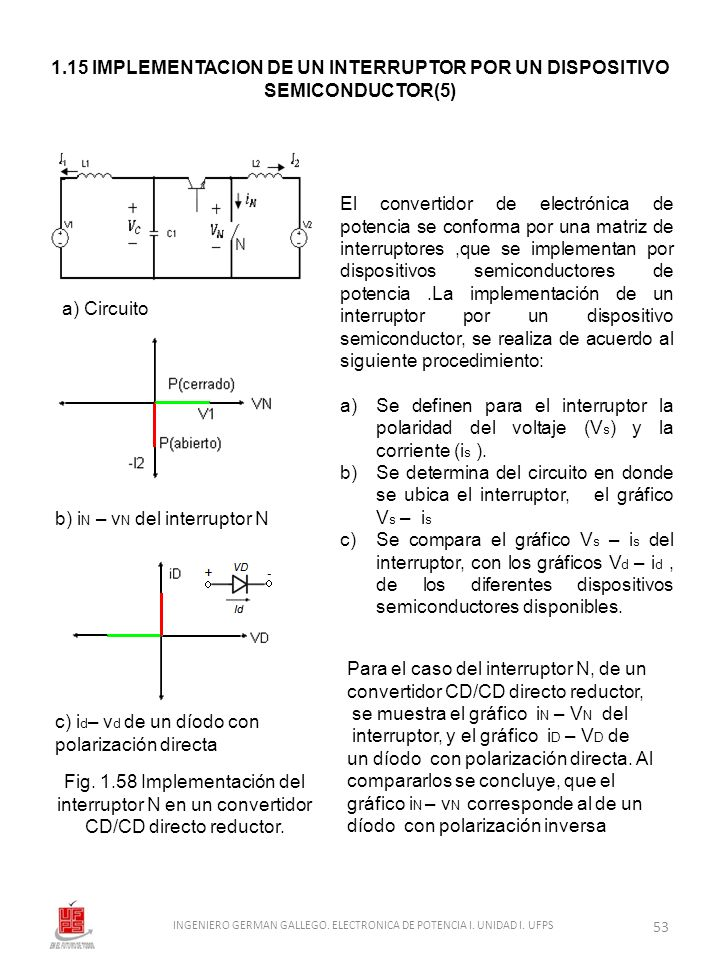 El convertidor de electrónica de potencia se conforma por una matriz de interruptores,que se implementan por dispositivos semiconductores de potencia.