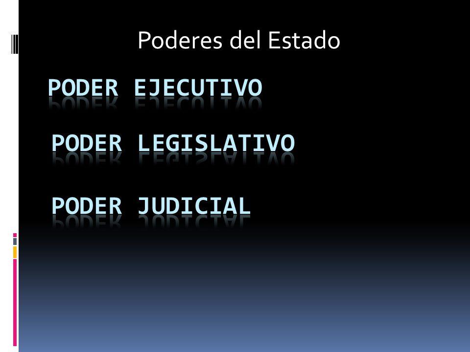 Poderes del Estado