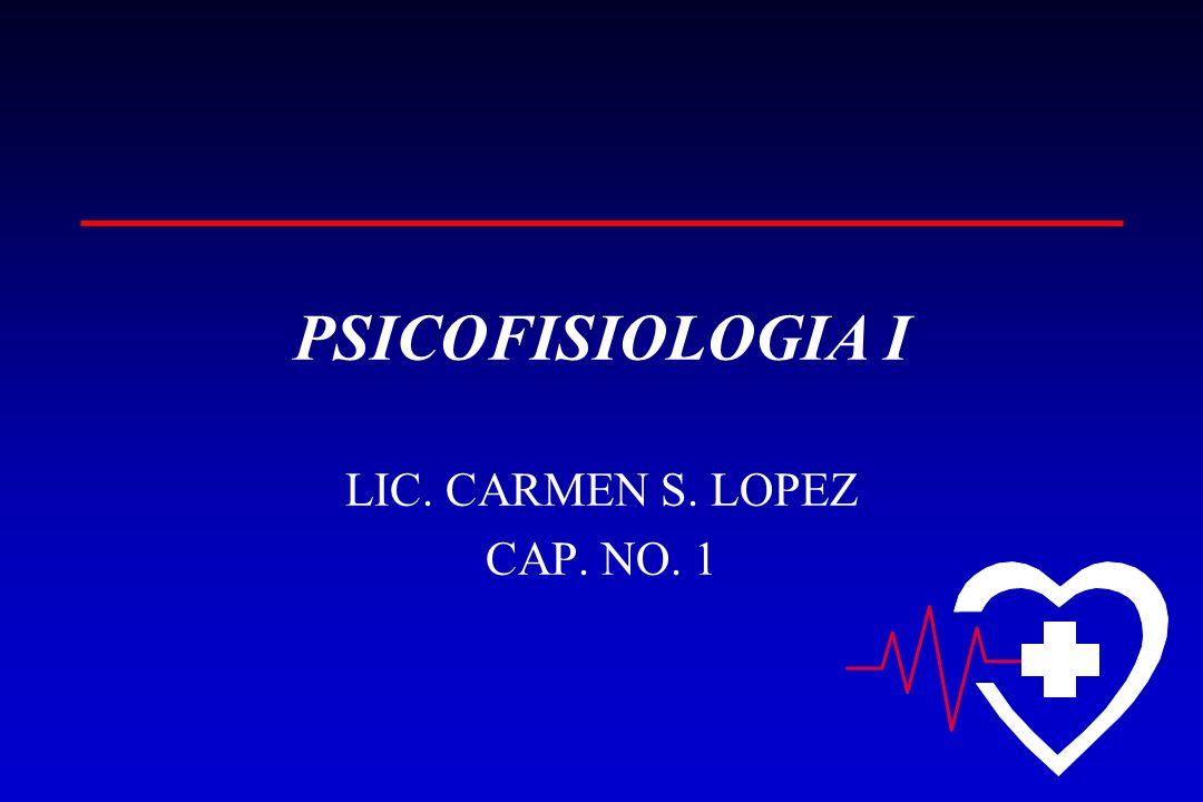 PSICOFISIOLOGIA I LIC. CARMEN S. LOPEZ CAP. NO. 1