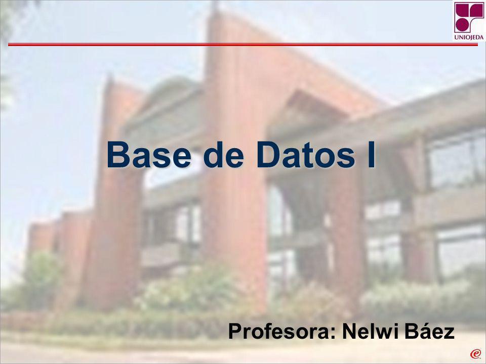 Unidad 1: Introducción a la Base de Datos Introducción a la Base de Datos