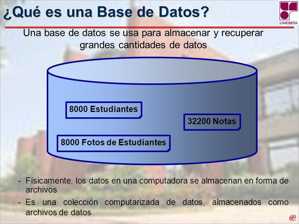 ¿Qué es una Base de Datos.ID de Estudiante Nombre de Estudiante Edad No.